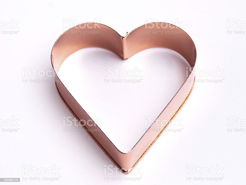 Heart cookie cutter stock photo