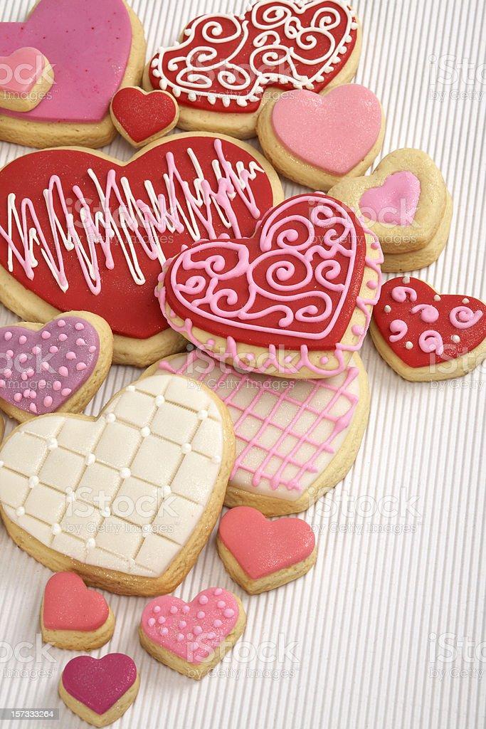 Heart Cookies 1 stock photo