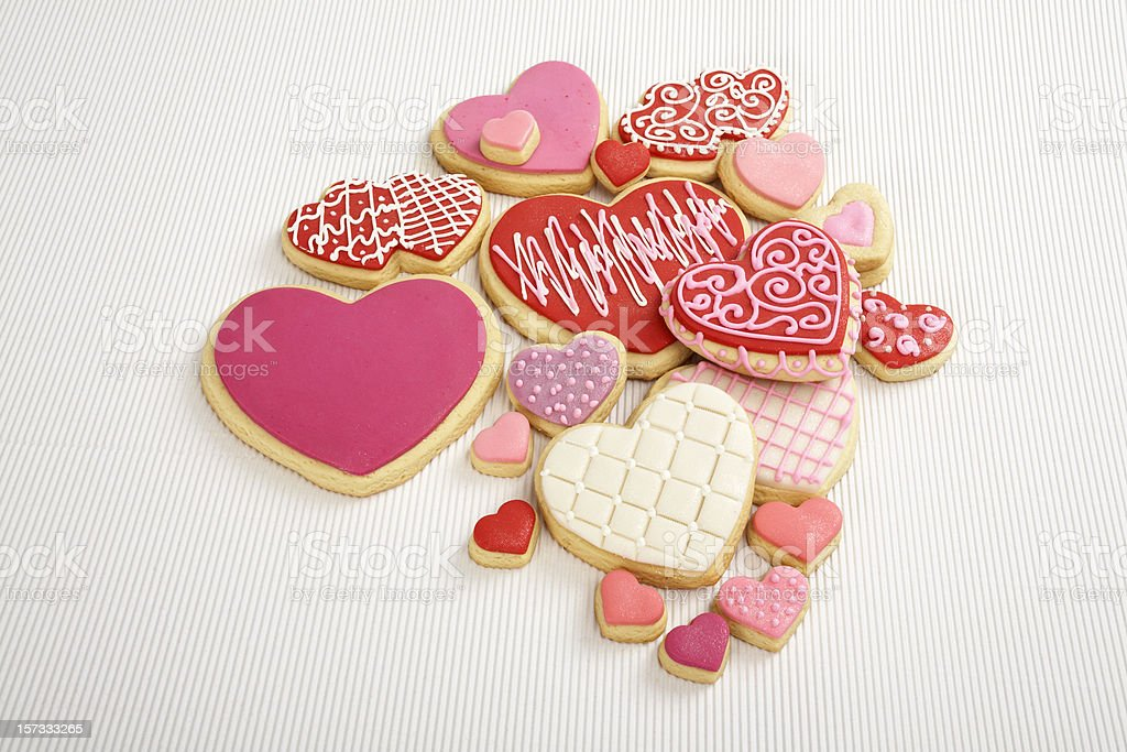 Heart cookies 2 stock photo