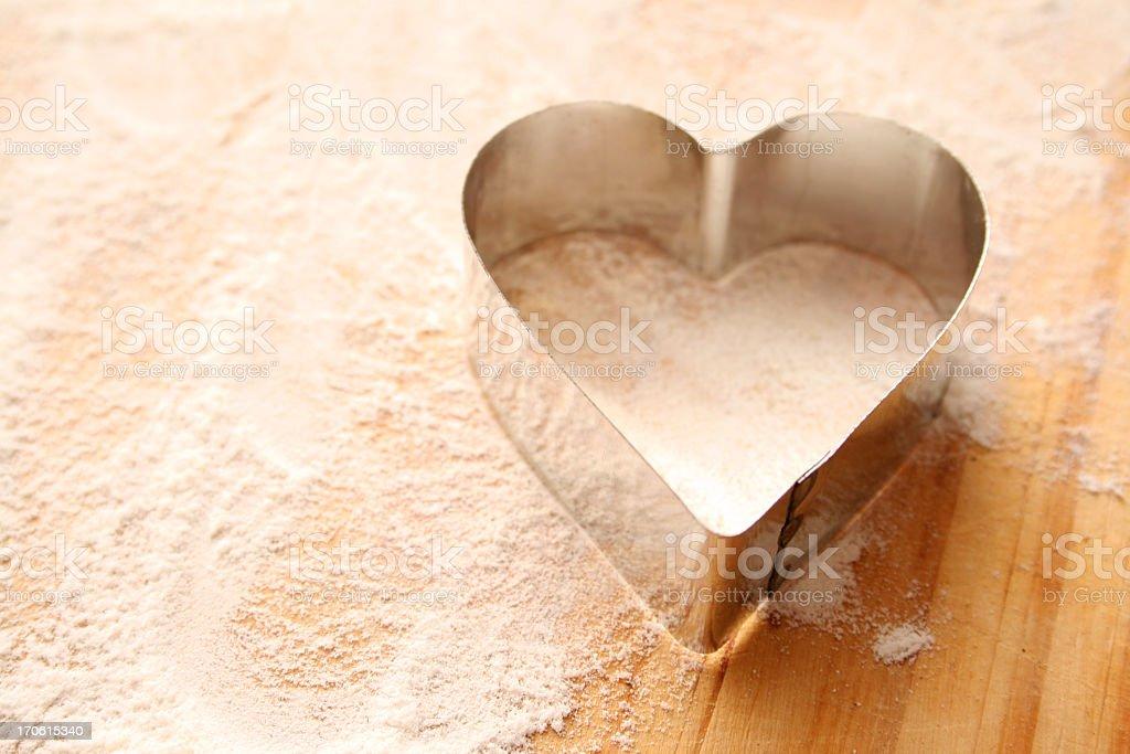 Heart cutter stock photo
