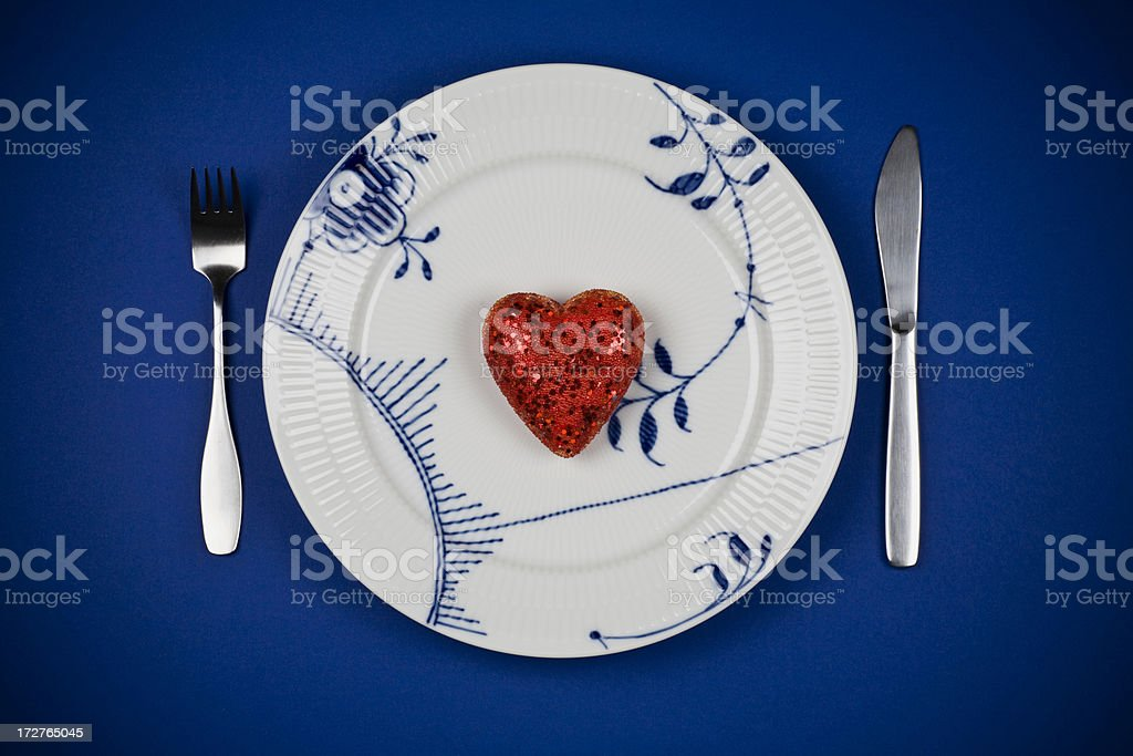 Heart dinner royalty-free stock photo