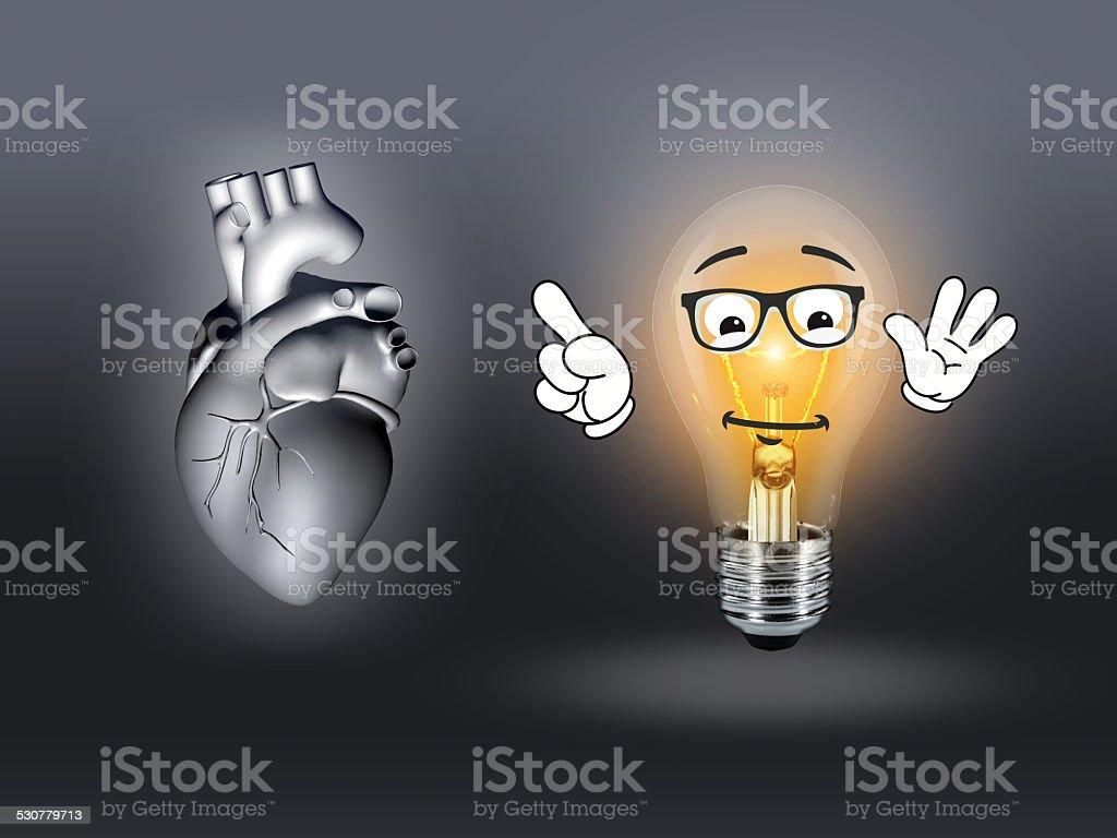 Enfermedad Cardíaca Anatomía Ilustración 3d Gris Stock Foto e Imagen ...
