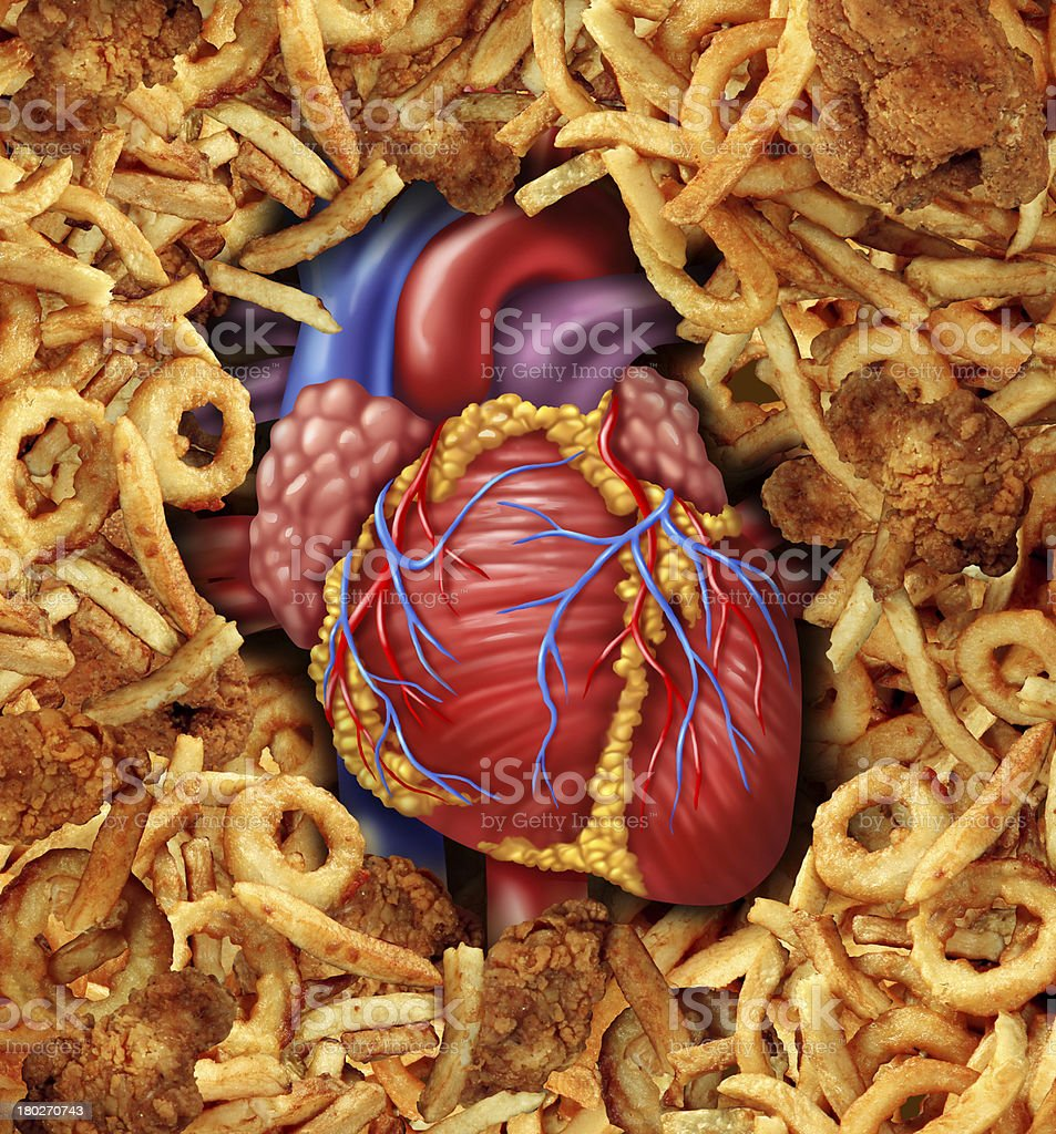 Heart Disease Food royalty-free stock photo