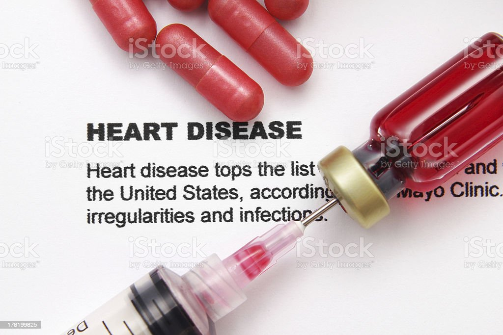 Heart disease royalty-free stock photo