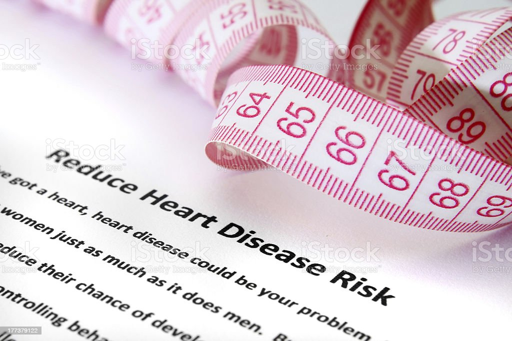 Heart disease risk royalty-free stock photo