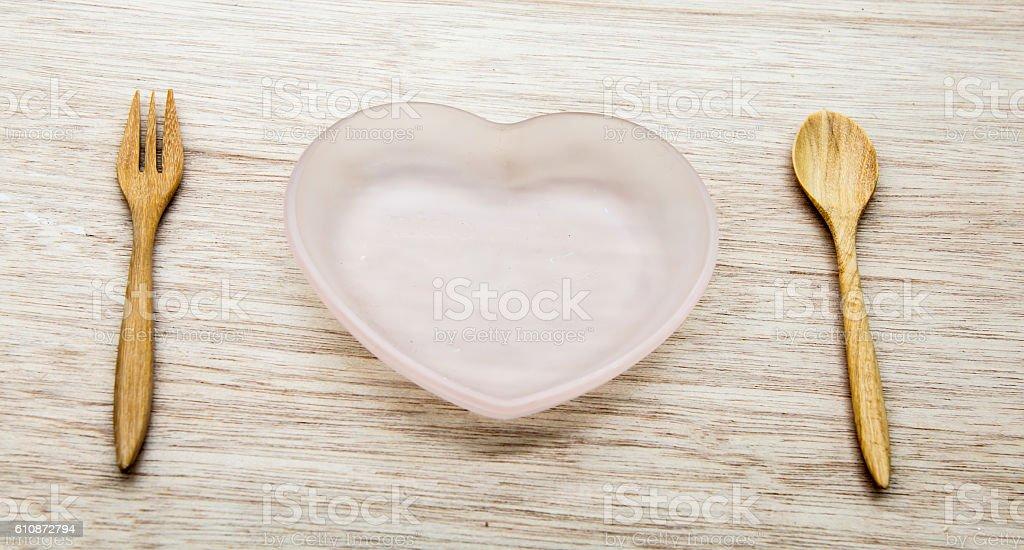 heart dish stock photo