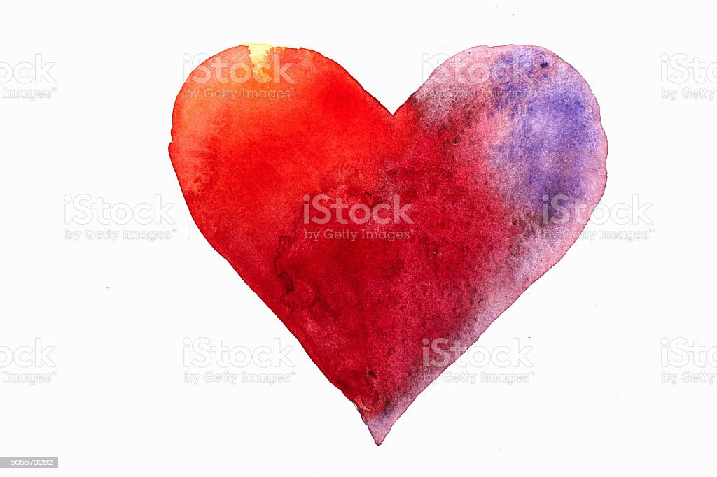 heart draw vector art illustration