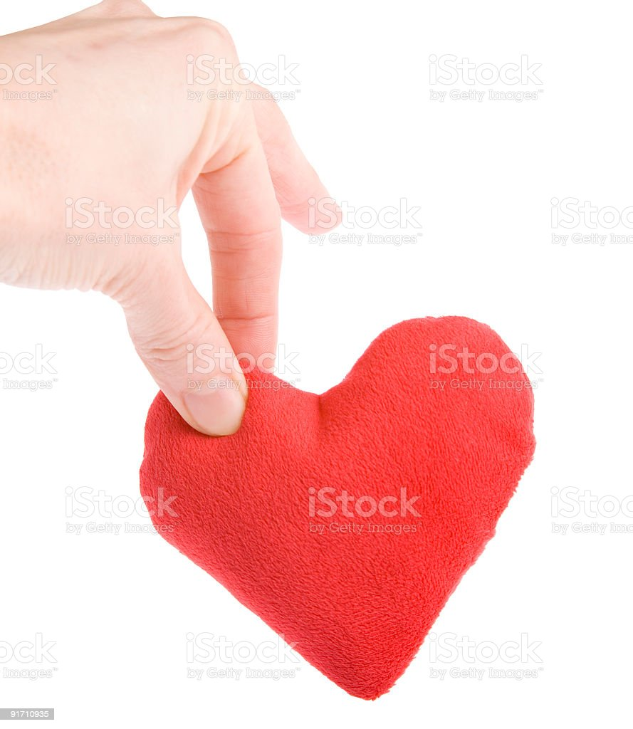 Heart drop stock photo
