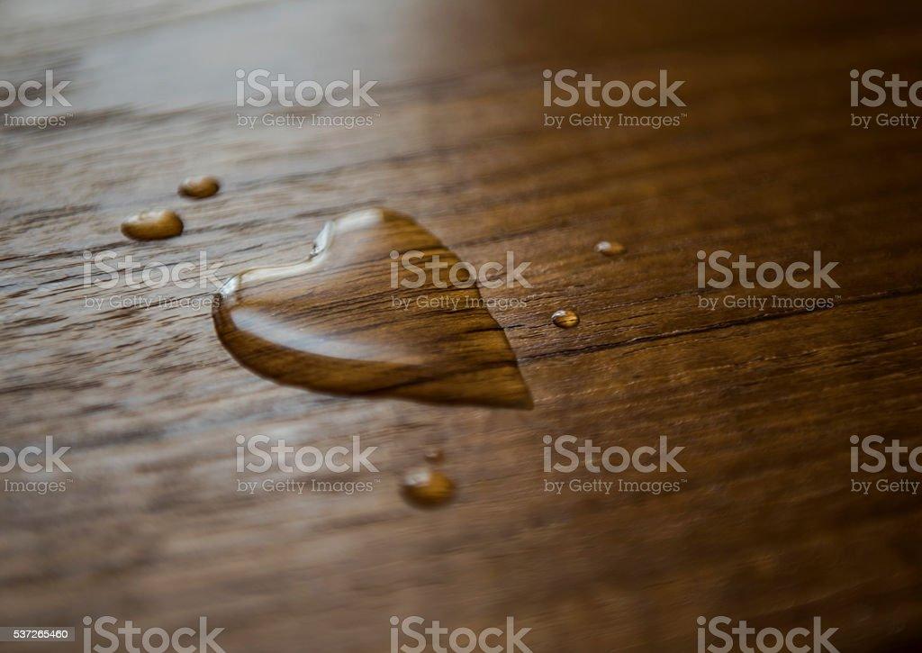 Heart Drops stock photo