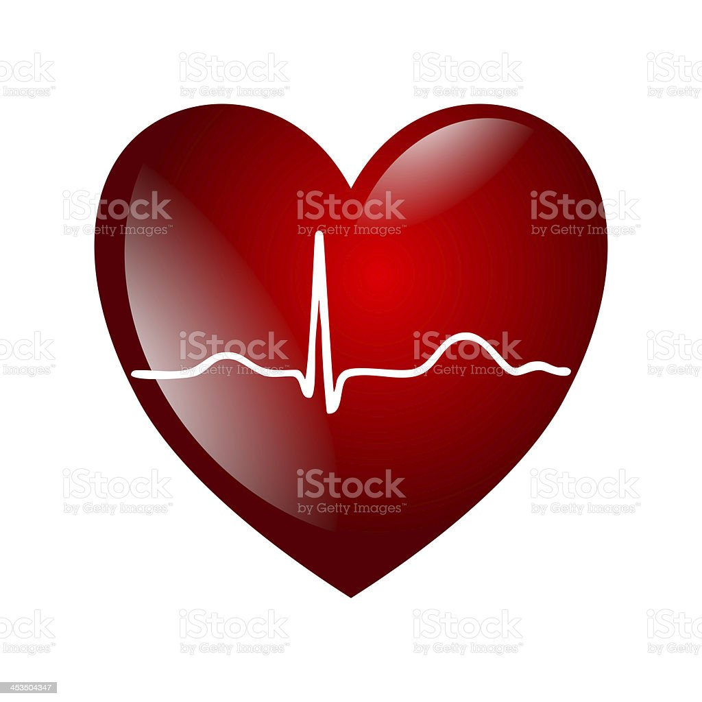heart electrocardiogramm stock photo