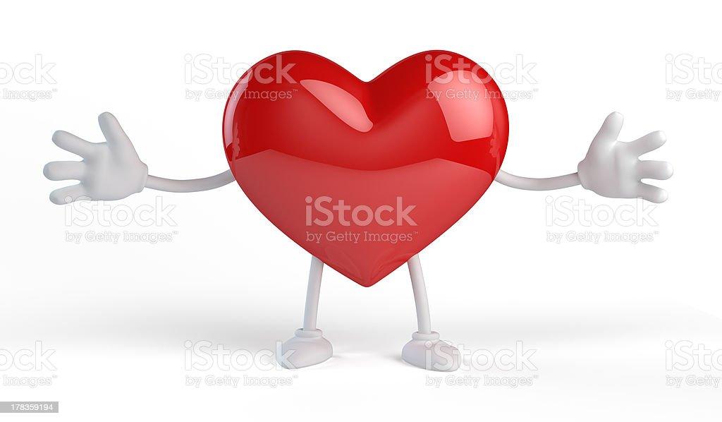 Heart embrace royalty-free stock photo