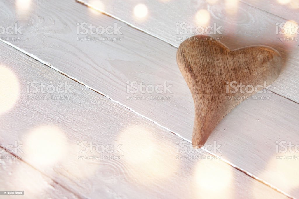 A heart for mothers day in vintage style stock photo