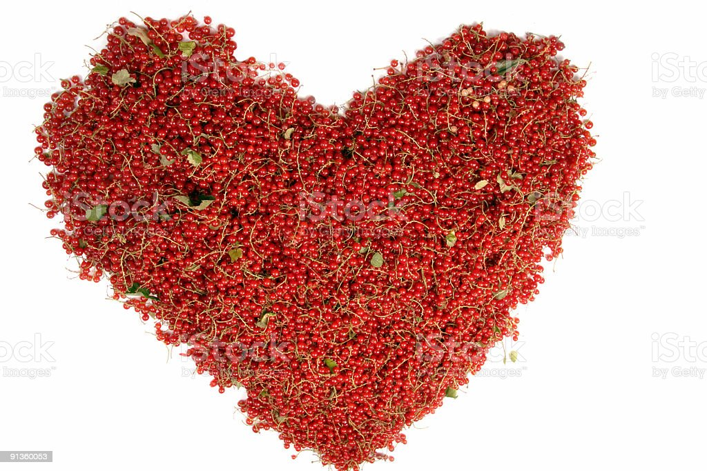 Heart from a red currant royalty-free stock photo