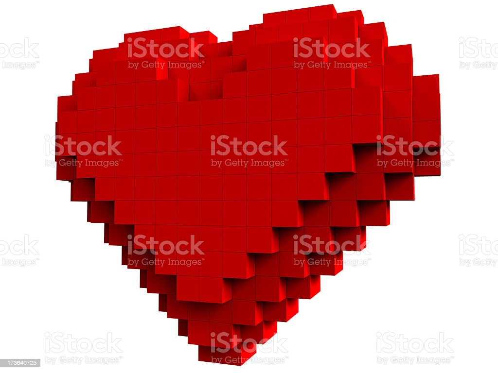 Heart from cubes stock photo
