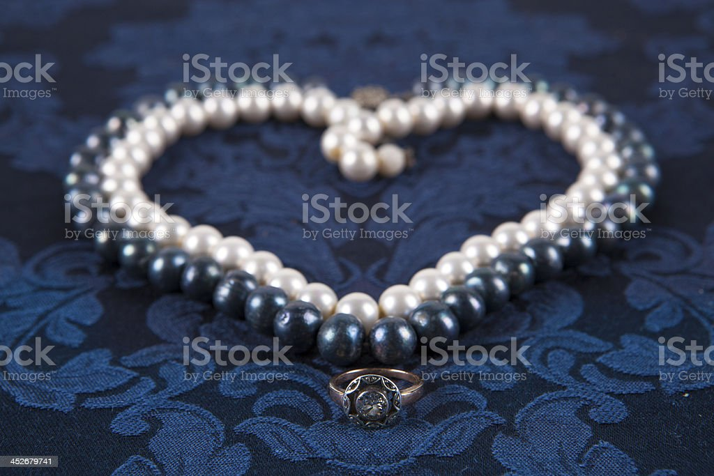 Heart from pearls royalty-free stock photo