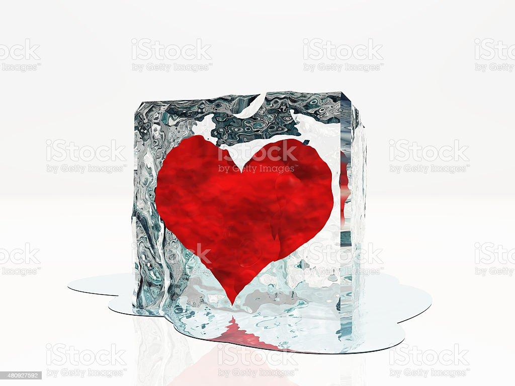 Heart frozen stock photo