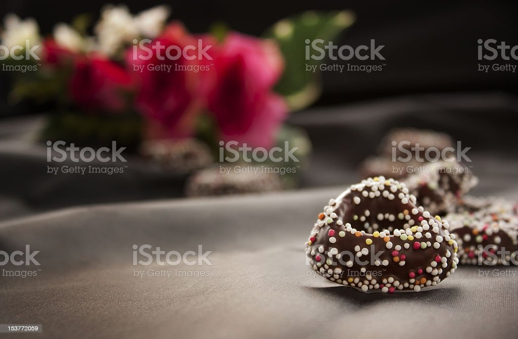 Heart gingerbread cookies royalty-free stock photo