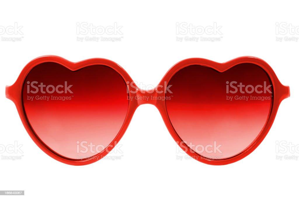 Heart glasses stock photo