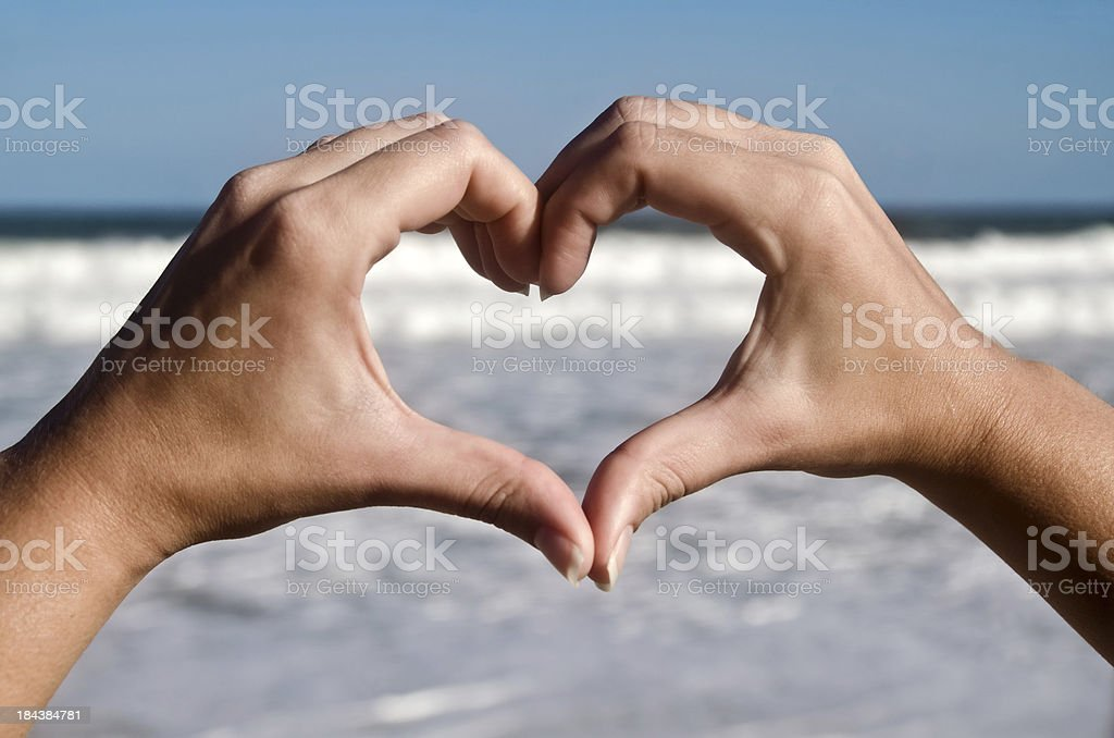 Heart Hand stock photo