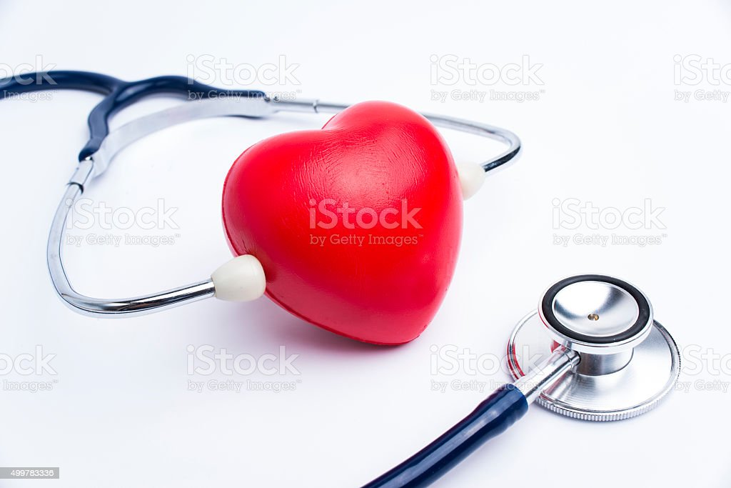 Heart health checkup stock photo