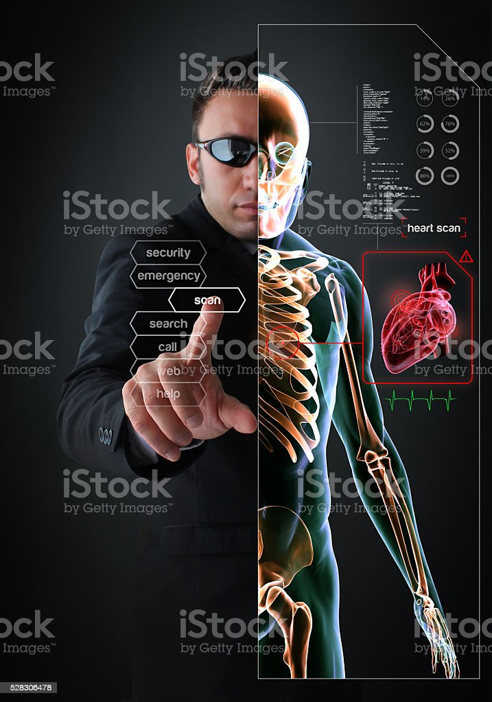 Heart Health Test in The Near Future stock photo