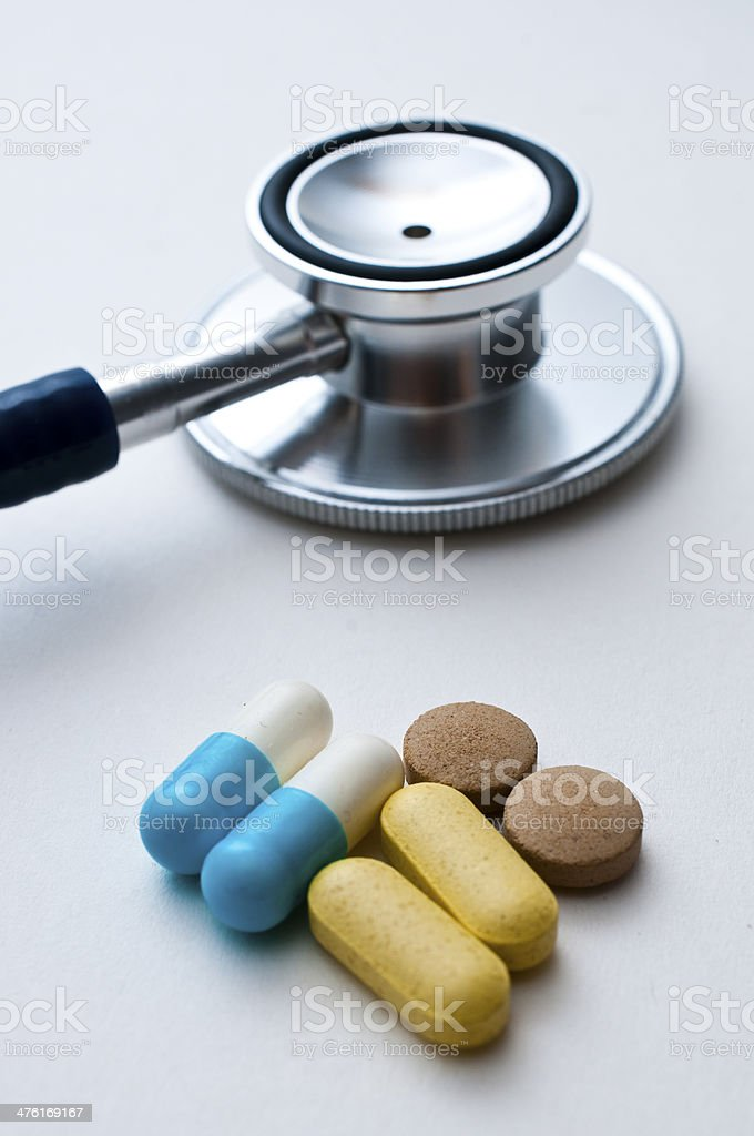 heart health with pills royalty-free stock photo
