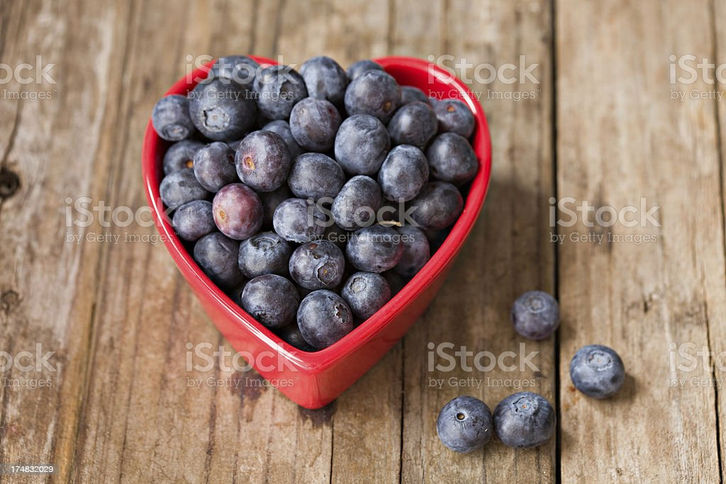 Heart Healthy Blueberries royalty-free stock photo