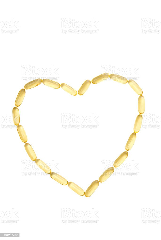 Heart Healthy Fish Oil Capsules royalty-free stock photo