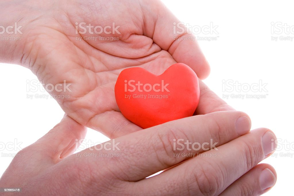 Heart hide stock photo