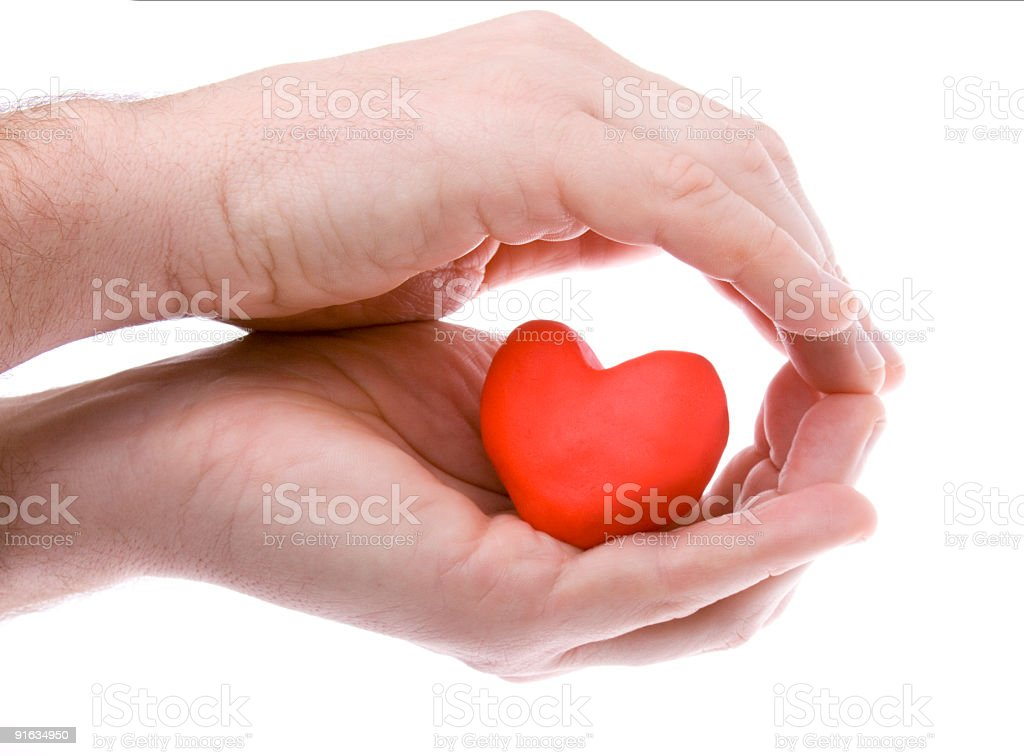 Heart hiding stock photo