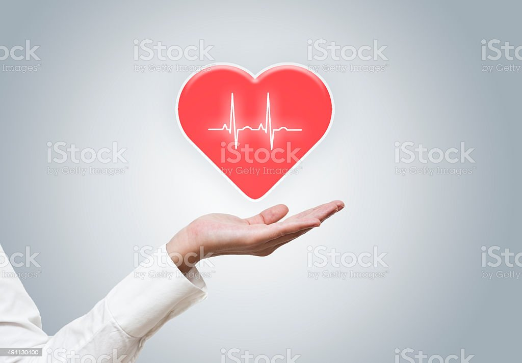 Heart / holding medical concept (Click for more) stock photo