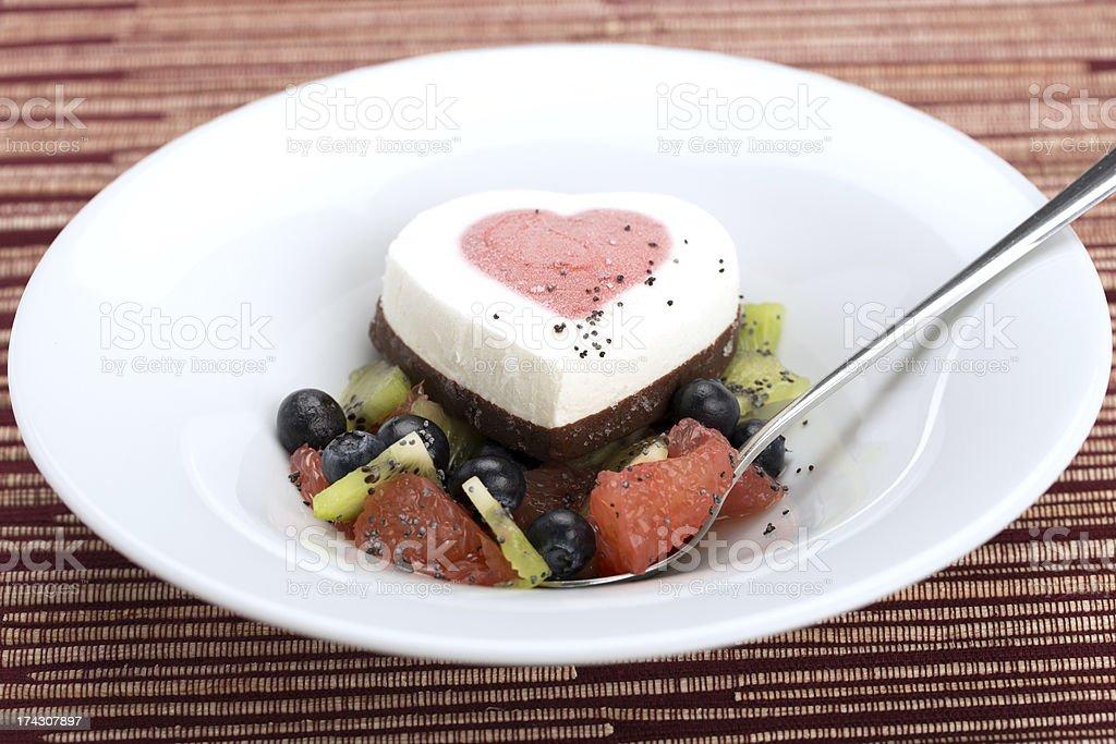 Heart ice cream royalty-free stock photo
