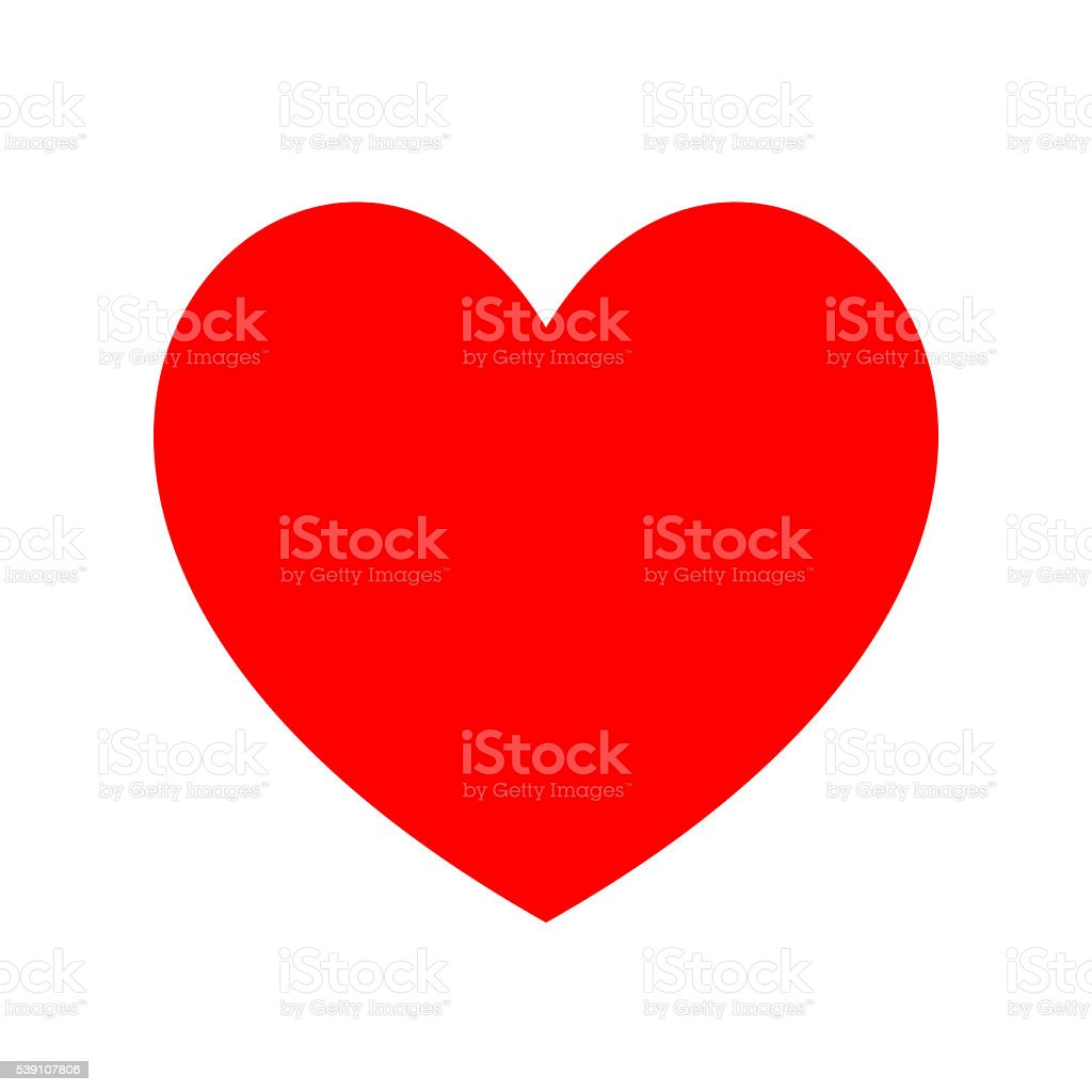 Heart icon. Minimal flat love symbol on white. Clipping Path. stock photo