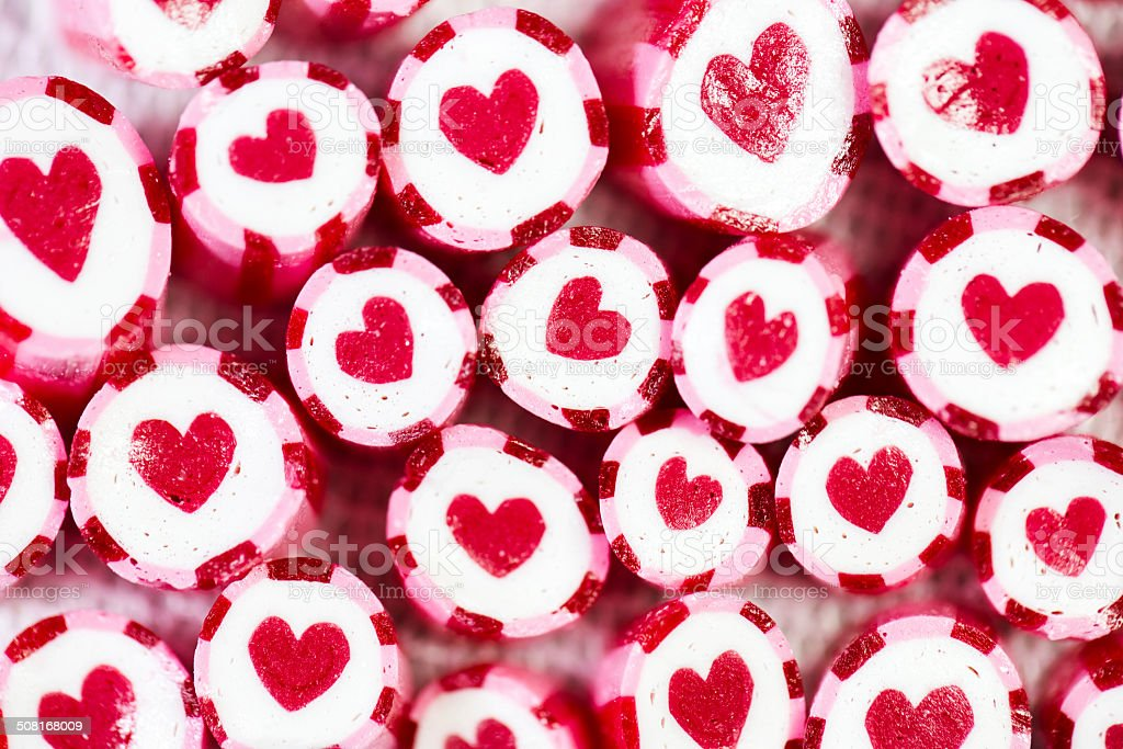 Heart in candy canes stock photo
