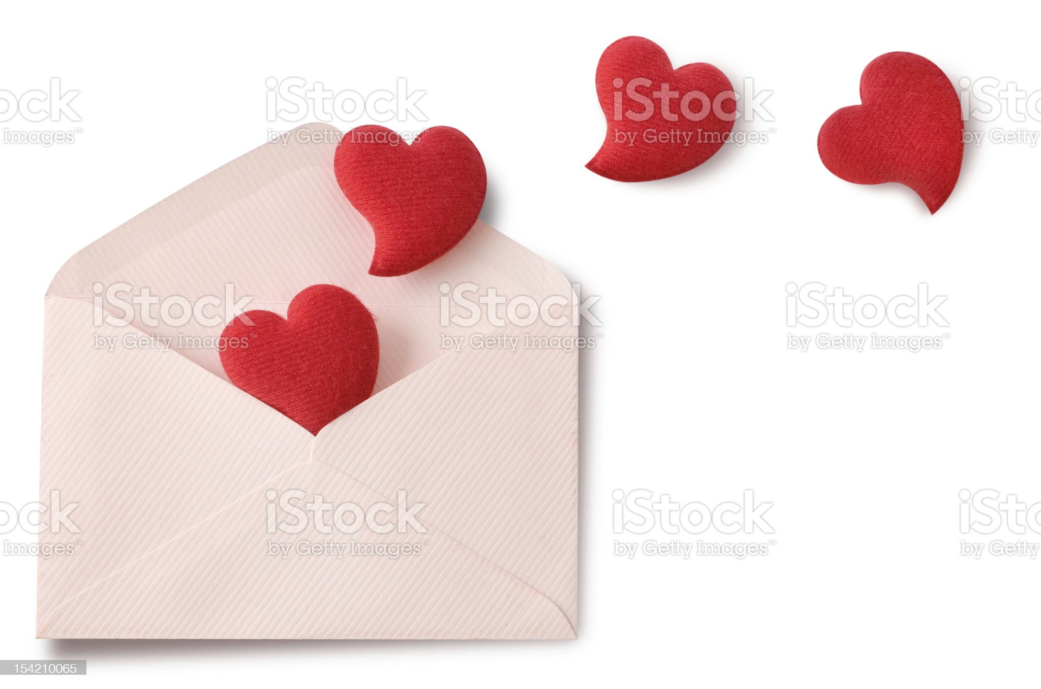 Heart in envelope royalty-free stock photo
