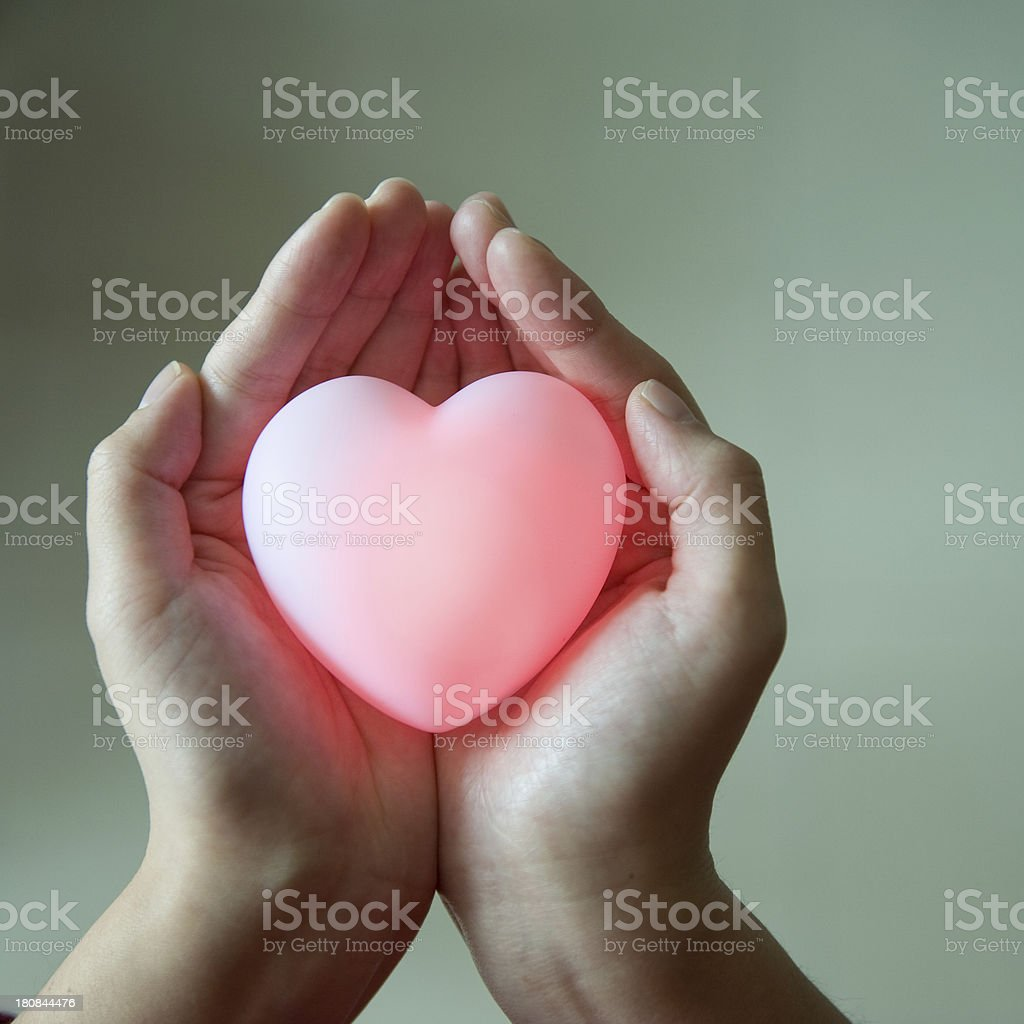 heart in hands royalty-free stock photo
