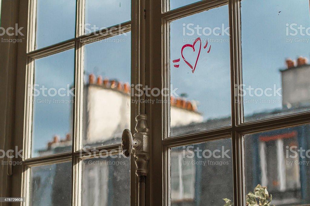 Serce w Paryżu zbiór zdjęć royalty-free