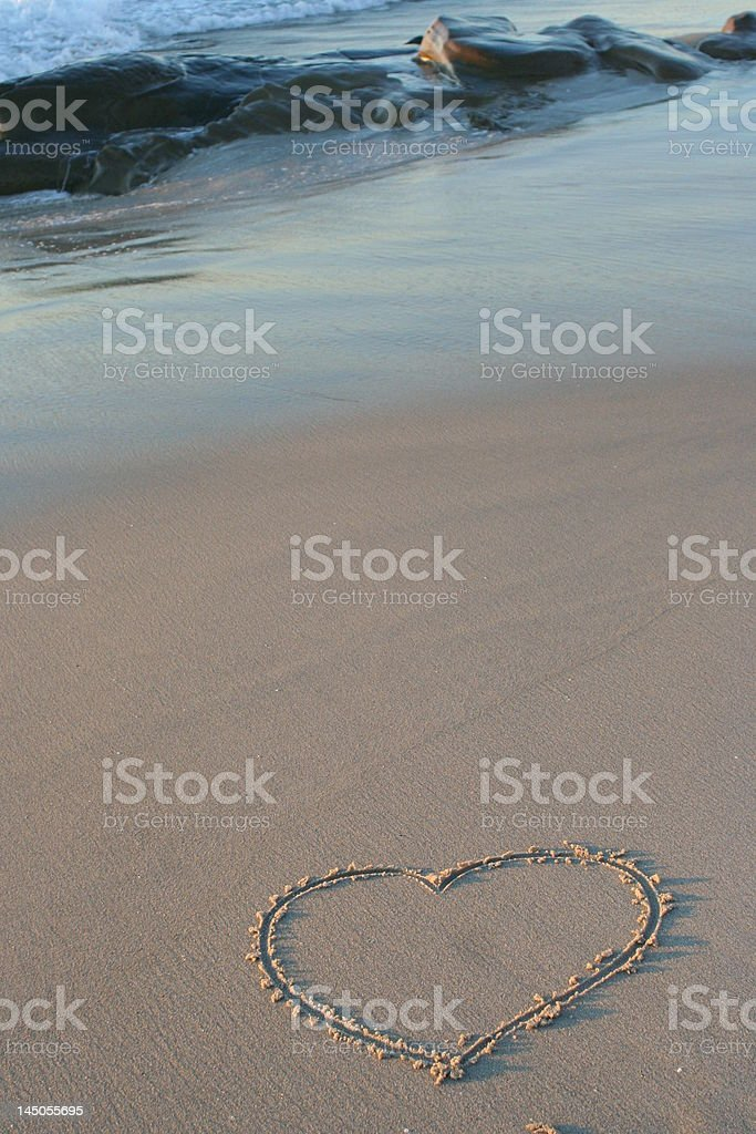 Heart in the Sand royalty-free stock photo