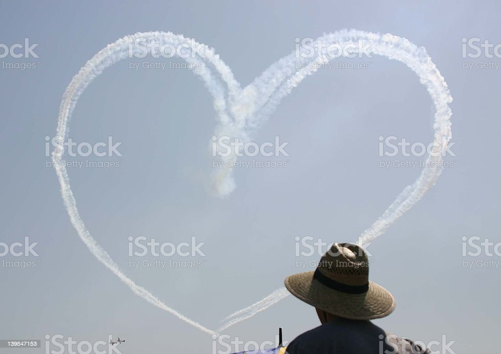 Heart in the sky royalty-free stock photo