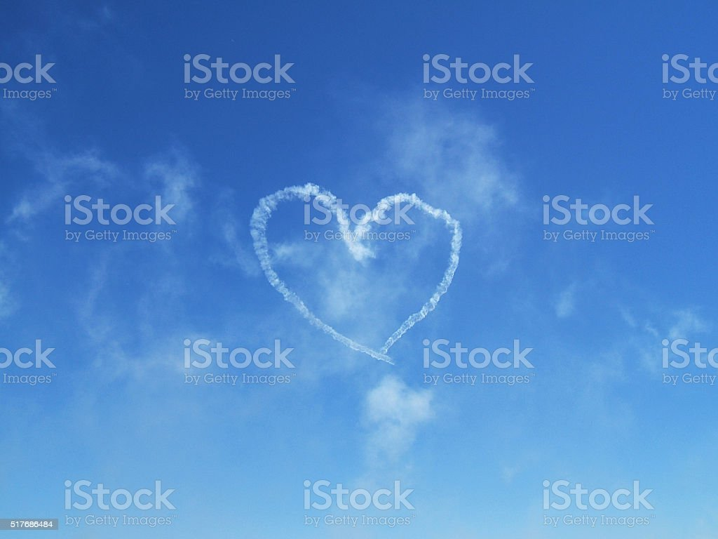 Heart in the sky stock photo
