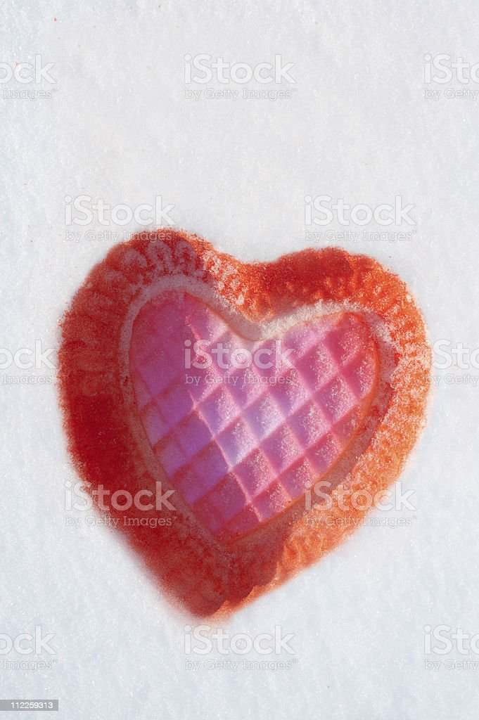 Heart in the snow royalty-free stock photo