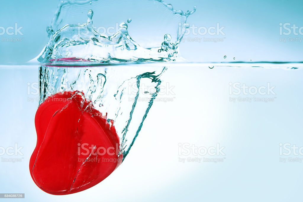 heart in water stock photo