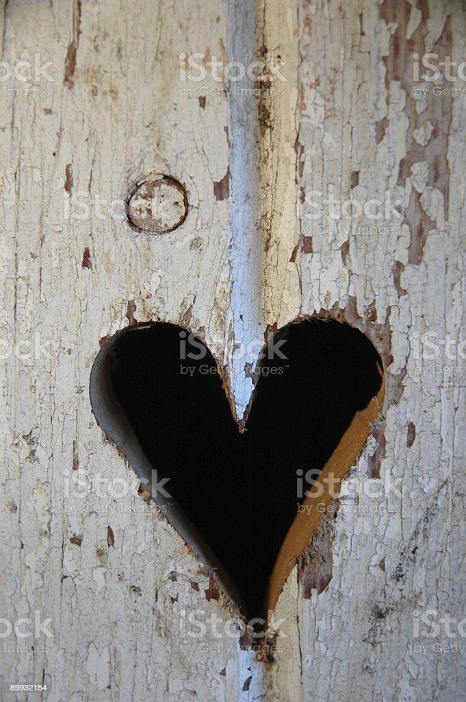 Сердце в деревянные приверженность Стоковые фото Стоковая фотография