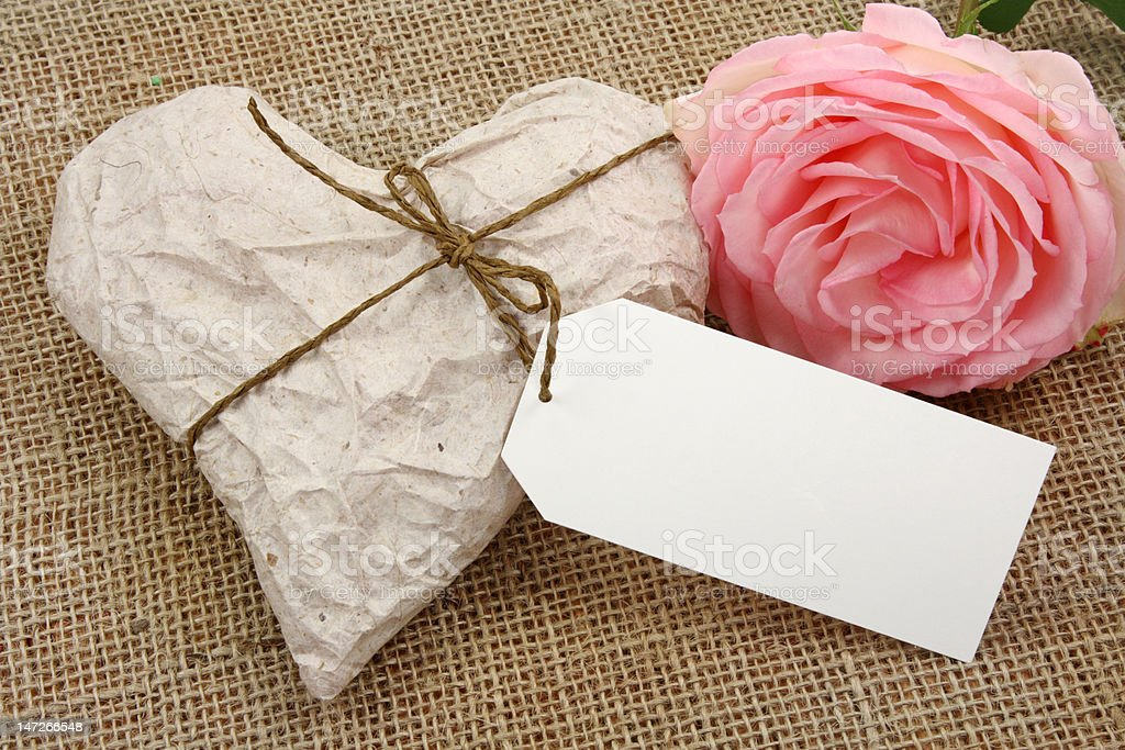 Heart in Wrapping Paper royalty-free stock photo