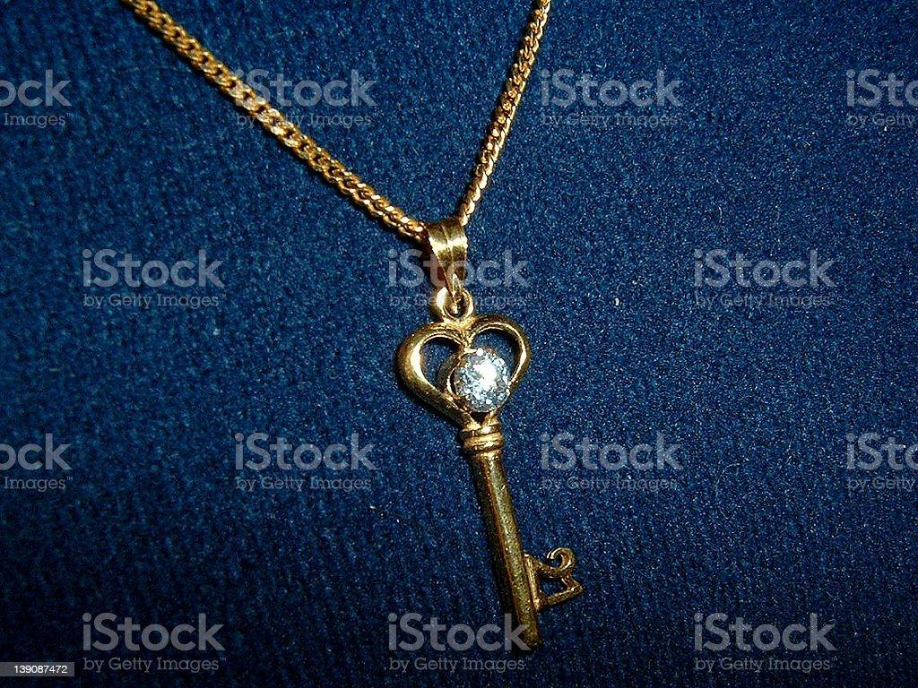 Heart Key Pendant royalty-free stock photo