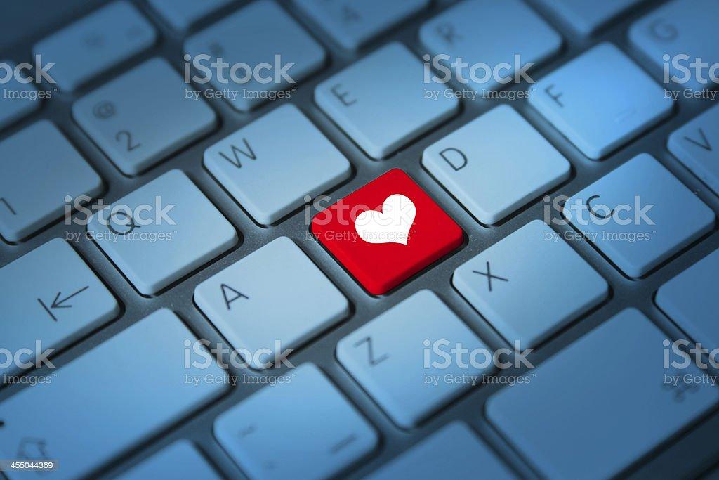heart keyboard key stock photo