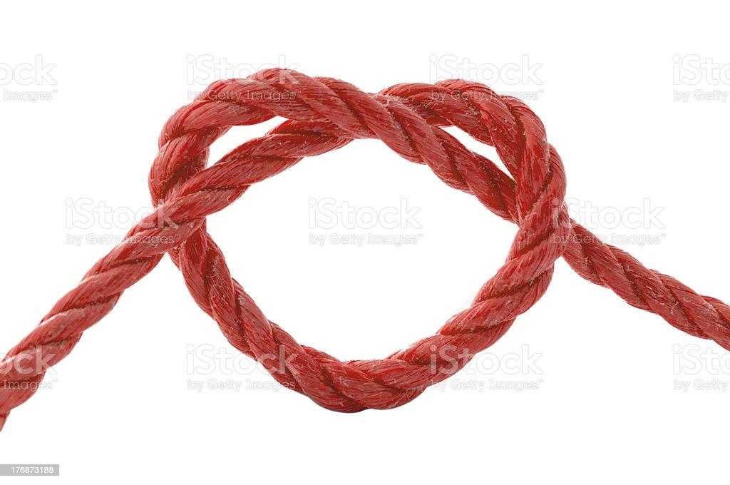 heart knot stock photo