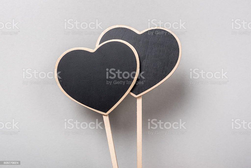 Heart Label. stock photo