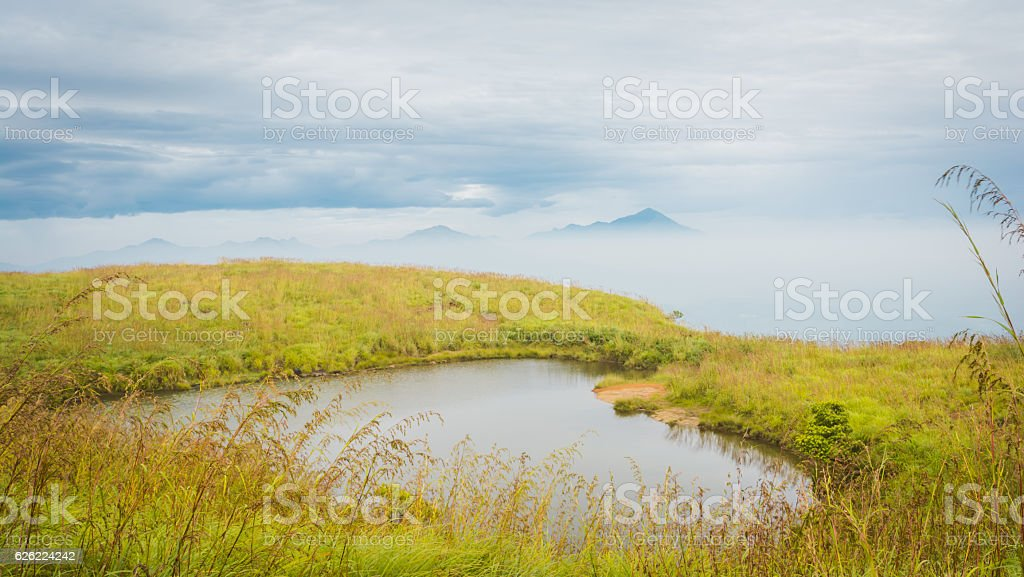 Heart Lake At The Top Of Hill, Waynad, Kerala stock photo