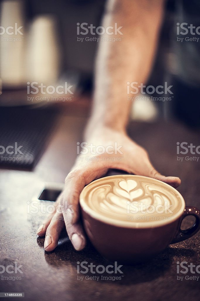 Heart Latte Froth Art stock photo